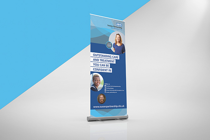 Free Standing Banner Trustwide Banner